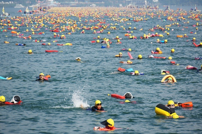 A previous edition of the Sun Moon Lake Swimming Carnival