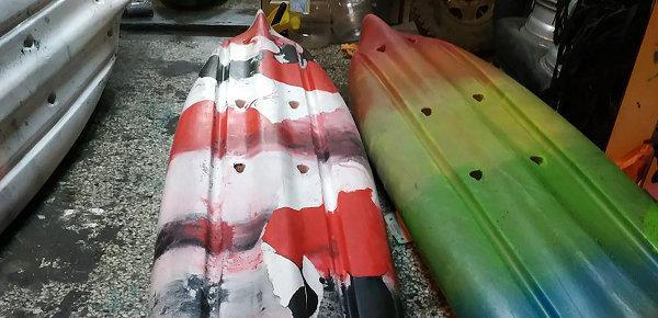 Canoes of Taiwanese boating company deliberately damaged in Hualien
