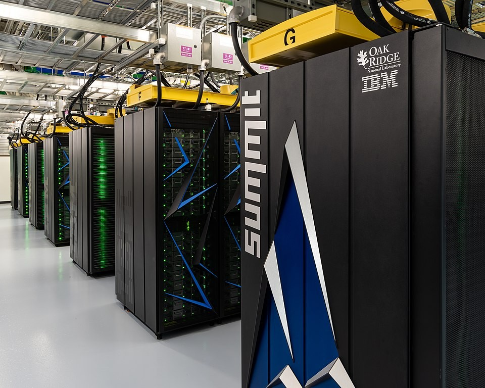 The world's most powerful supercomputer, the IBM Summit (photo by Carlos Jones, ORNL, via Flickr)