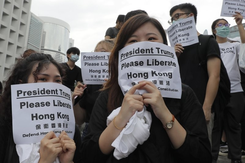 Hong Kong protesters urge discussion of extradition bill at G-20