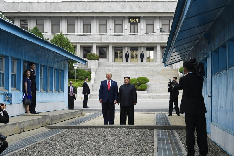 Trump 'was proud' to cross into North Korea