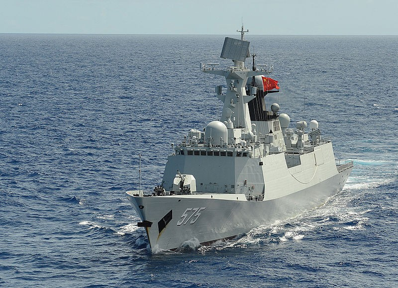 China's People's Liberation Army Navy frigate Yueyang (FF 575)
