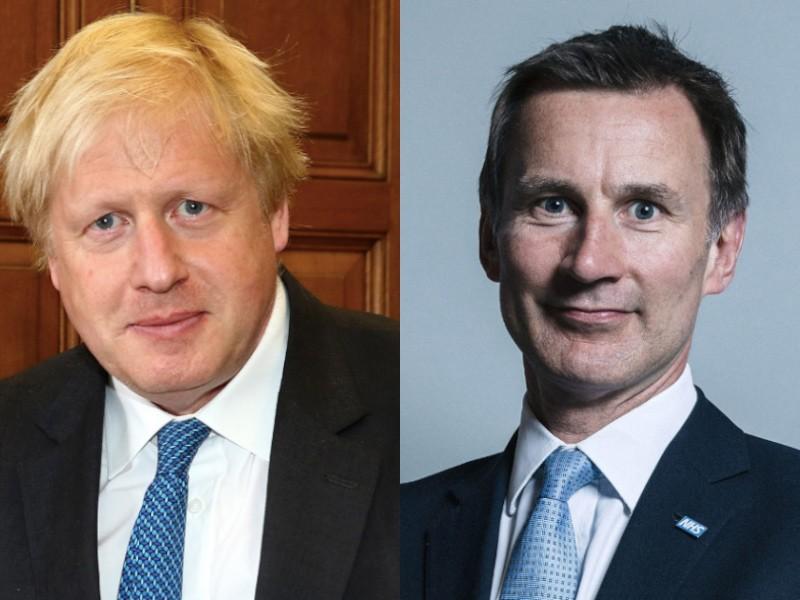 英國下任首相候選人韓特(右),及強生(左)(圖/維基百科)