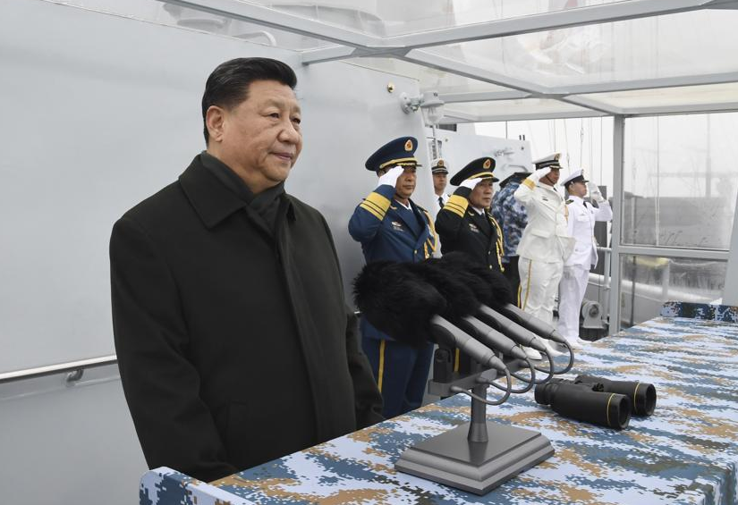 File Photo: Xi Jinping reviews naval parade on 70th anniversary of People's Liberation Army Navy