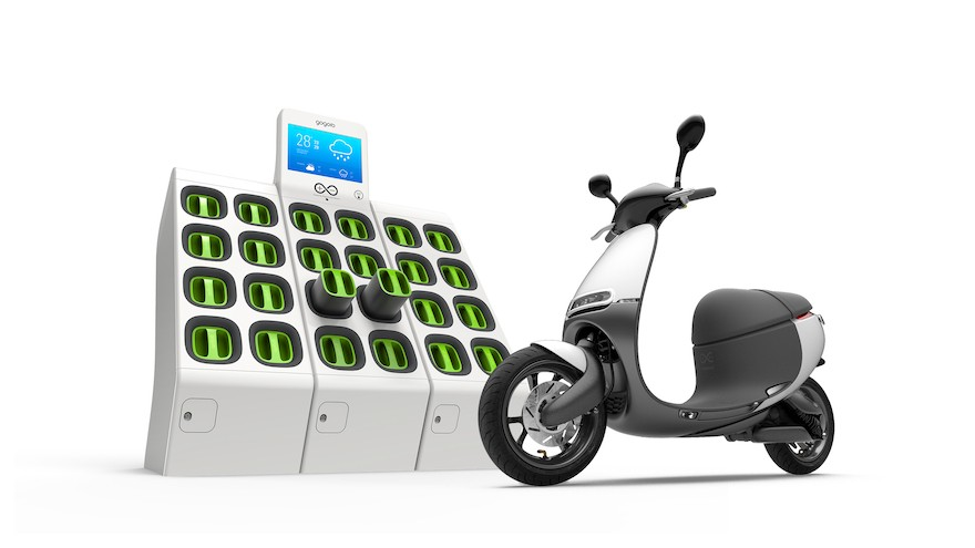 Gogoro eScooter and battery kiosk (Photo from 2018 Good Design Awards)