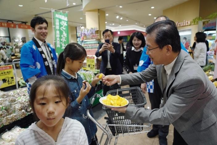 Tainan mango promotional event in Japan. (Tainan City Government photo)