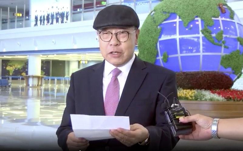 已故前南韓外交部長崔德新的72歲次子崔仁國(AP)