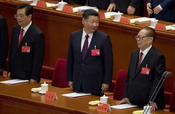 Hu Jintao, Xi Jinping, and Jiang Zemin