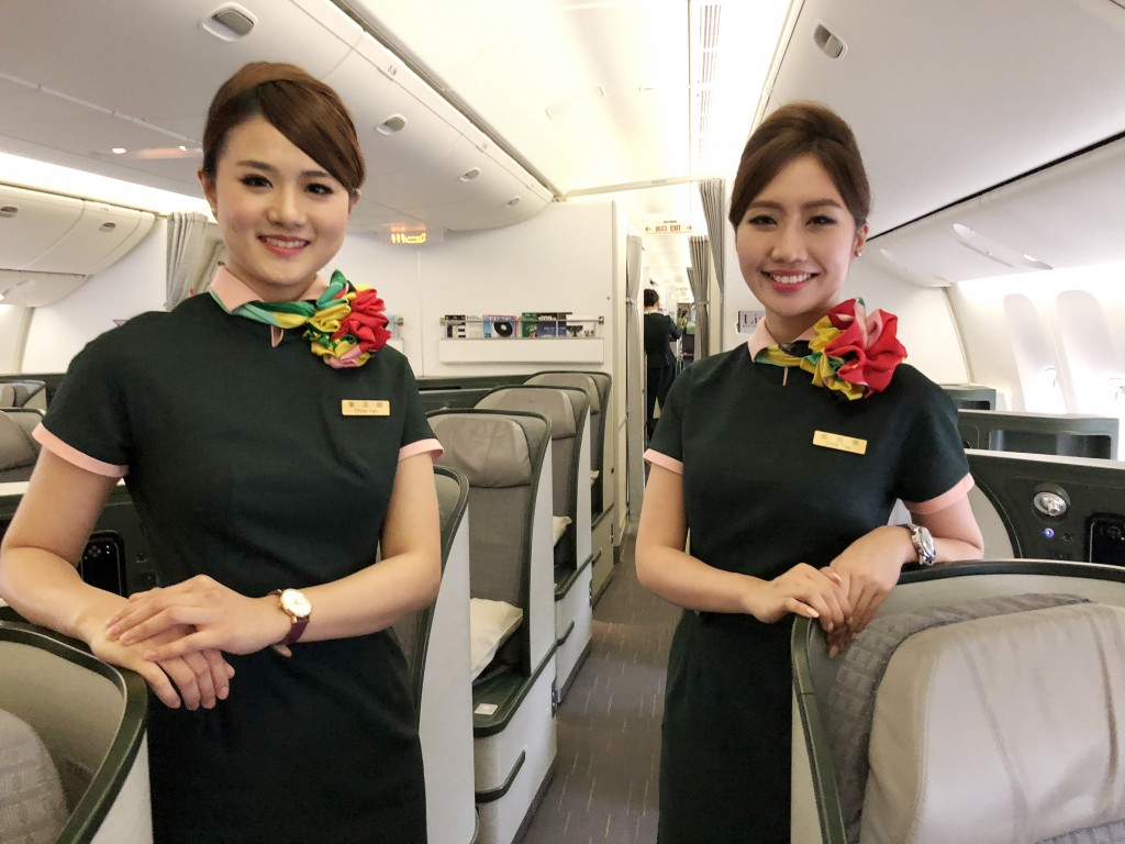 EVA Air flight attendants.