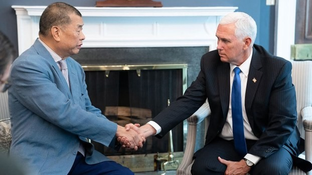 Jimmy Lai meet  Mike Pence at the White House, July 8 (Photo from White House)