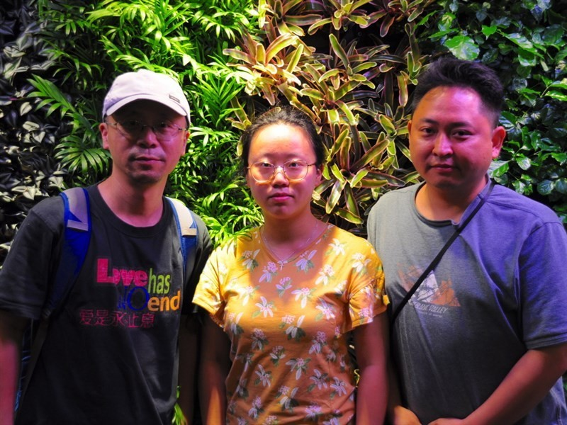 Liao Qiang and his family