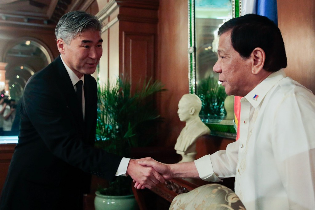 File Photo: Sung Kim meets PHI Pres. Rodrigo Duterte (Photo from PHI Presidential Office)