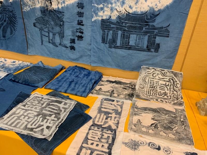 Indigo dye artworks (New Taipei City photo)