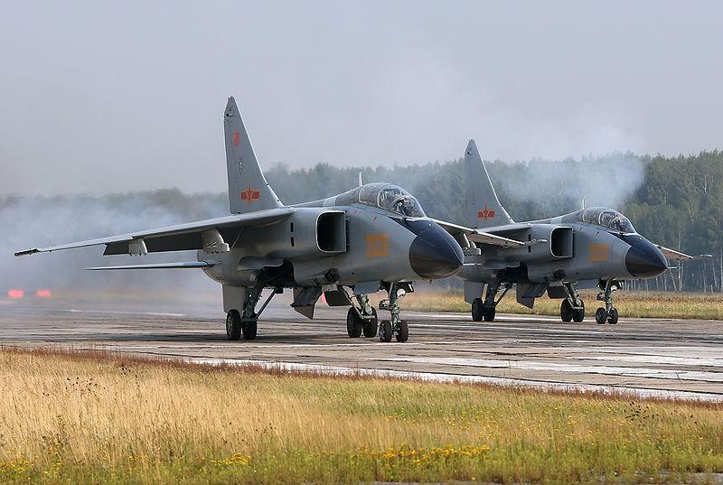 PLAAF Xian JH-7A fighter jets