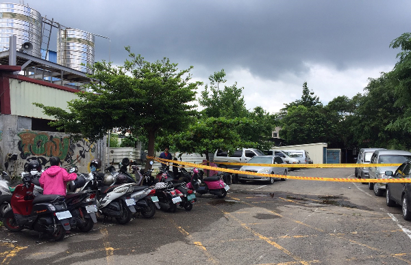 Scene of the murder in Kaohsiung's Dashe Dist.
