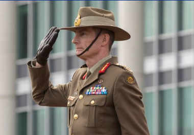Australia Defense Force chief Angus Campbell (screenshot from www.facebook.com/ChiefADF).