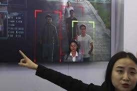Hikvision introducing ID recognition systems at a trade fair.