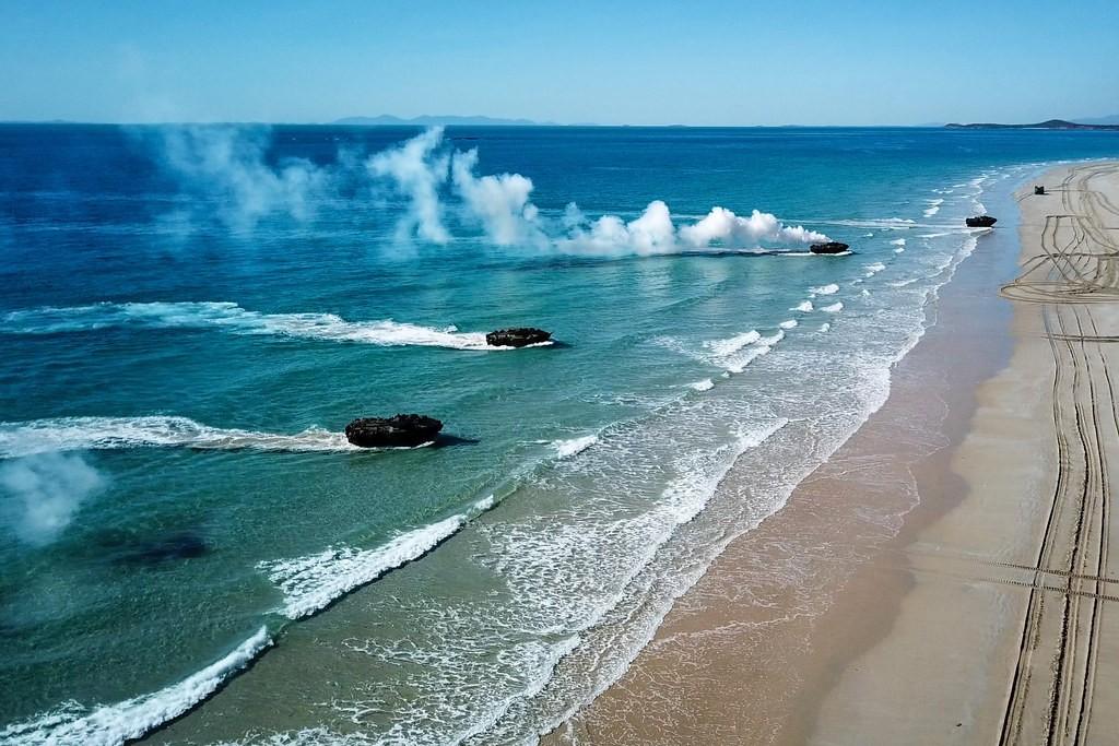 Amphibious landing training during Talisman Sabre (Source: Australia Army)