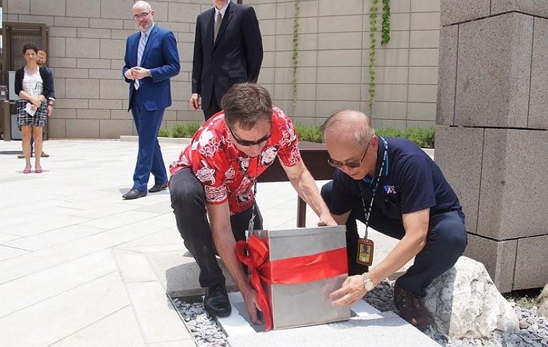 AIT director buries time capsule for future successors (Facebook photo)