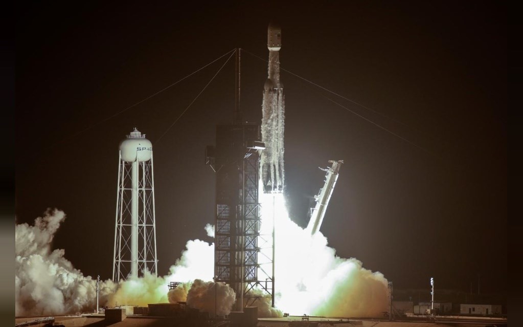 The launch of Formosat-7 in the U.S. last month.