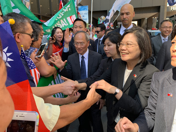President Tsai greets Taiwan supporters in Denver, Colorado, July 19