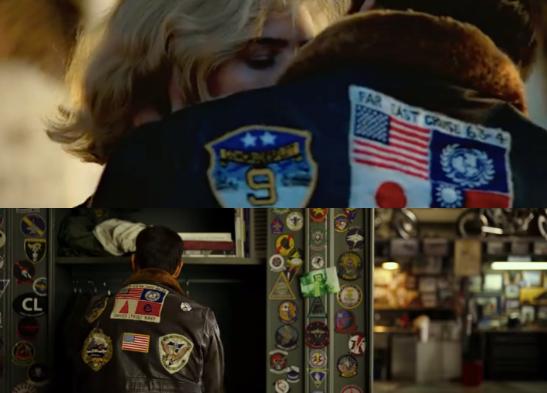 Screen shots: Top Gun (1986, above) and Top Gun 2 (2020, below) (Paramount Pictures)