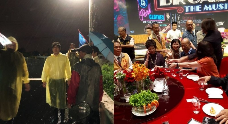 Kaohsiung residents incensed, Han Kuo-yu parties as city floods