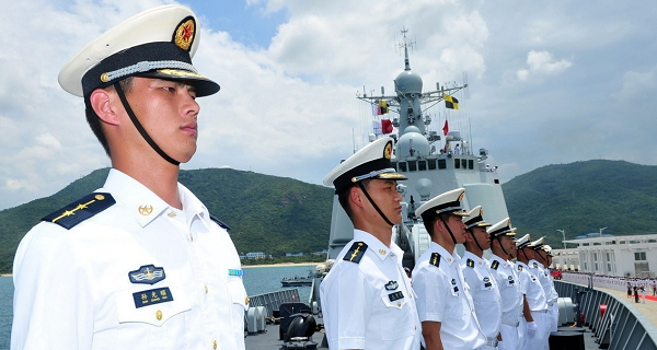 File photo: PLA Navy sailors