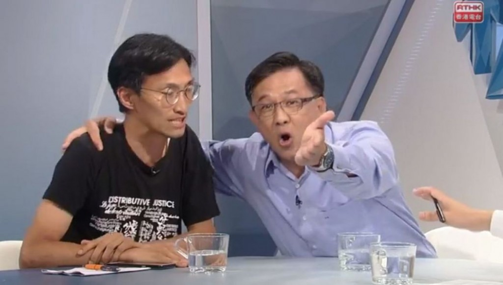 何君堯(右)、朱凱廸(左) (擷自香港電台視點31官方Facebook)