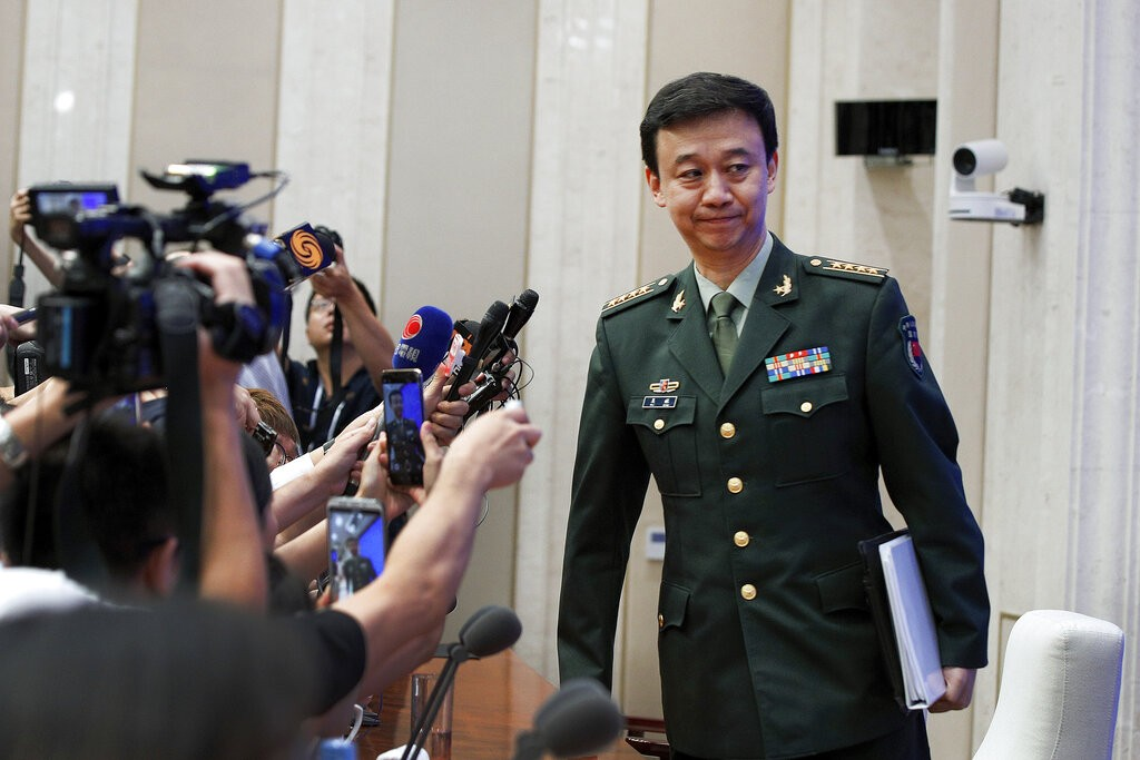 China's Defense Ministry Spokesman Wu Qian. (AP photo)