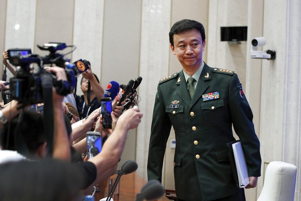China's Defense Ministry Spokesman Wu Qian. (AP photo)