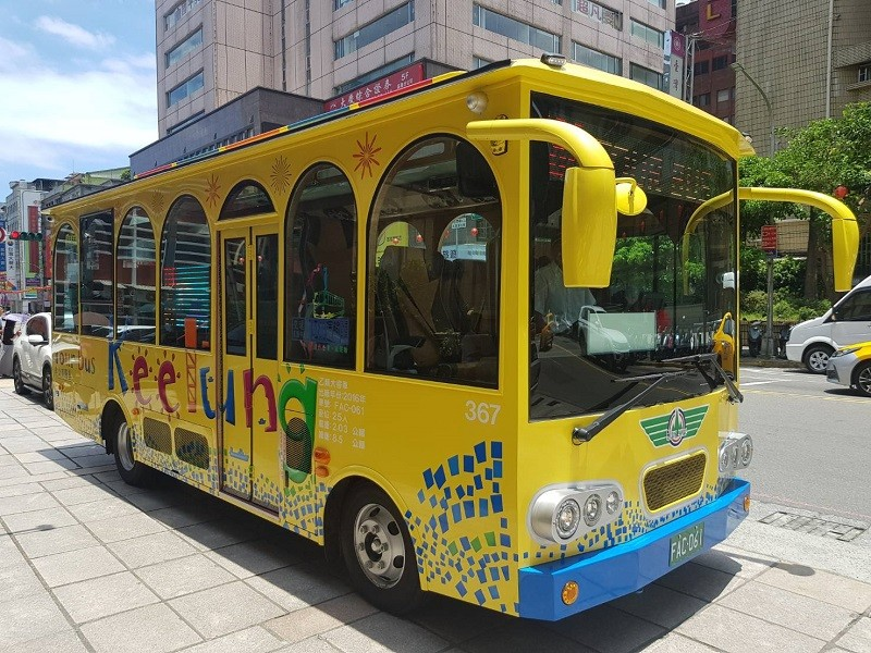 Keelung's new sightseeing bus for cruise ship passengers. (Keelung's Department of Transportation and Tourism photo)