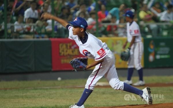 Taiwan U-12 pitcher Chen Kai-sheng