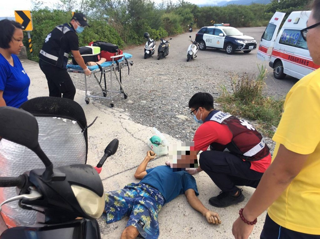 A Malaysian man was in serious condition after swimming at an Orchid Island harbor Saturday August 3.
