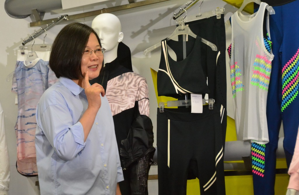 President Tsai Ing-wen visiting a factory earlier in the week.