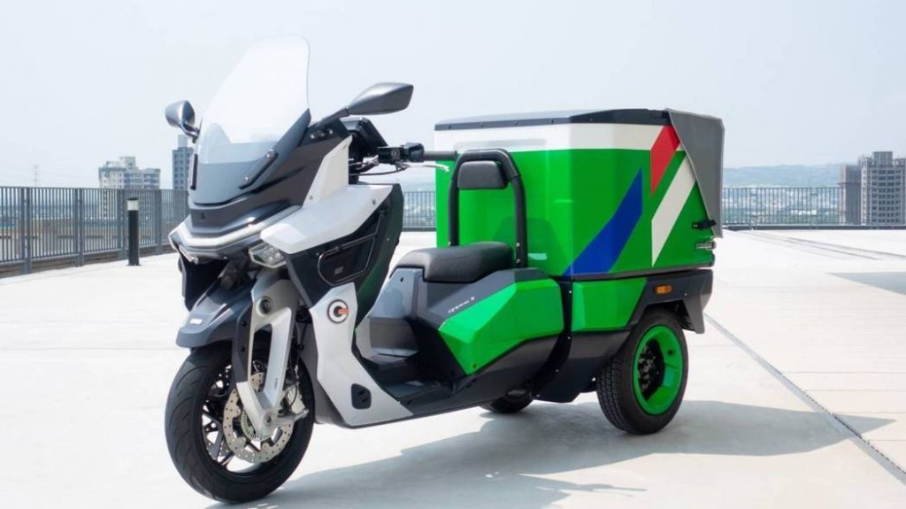 Three wheel scooter outfitted for postal delivery (photo from MOTC)