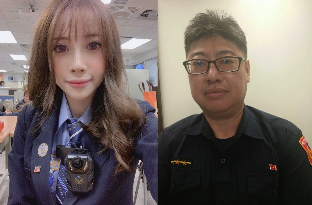 Airport police have English- (left) and Vietnamese-speaking officers (right) on hand (photo courtesy of airport police).