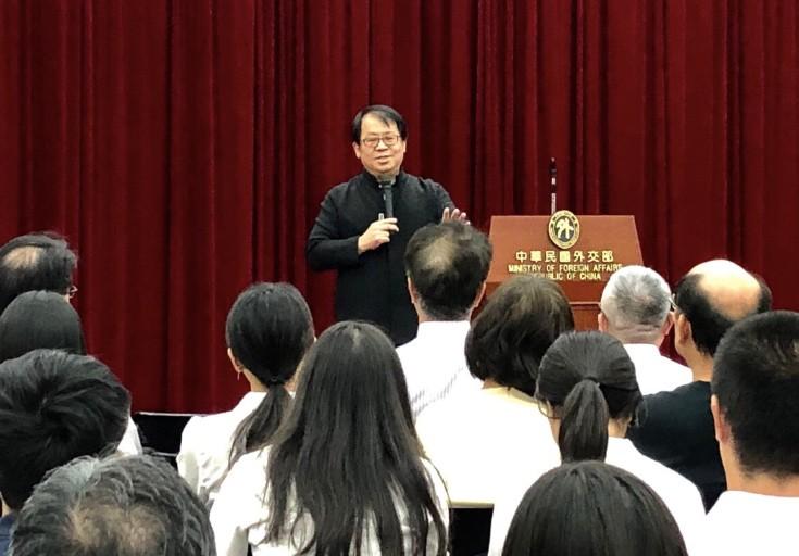 外交部「NGO名人開講」系列邀請朱宗慶演講(圖/財團法人擊樂文教基金會提供)