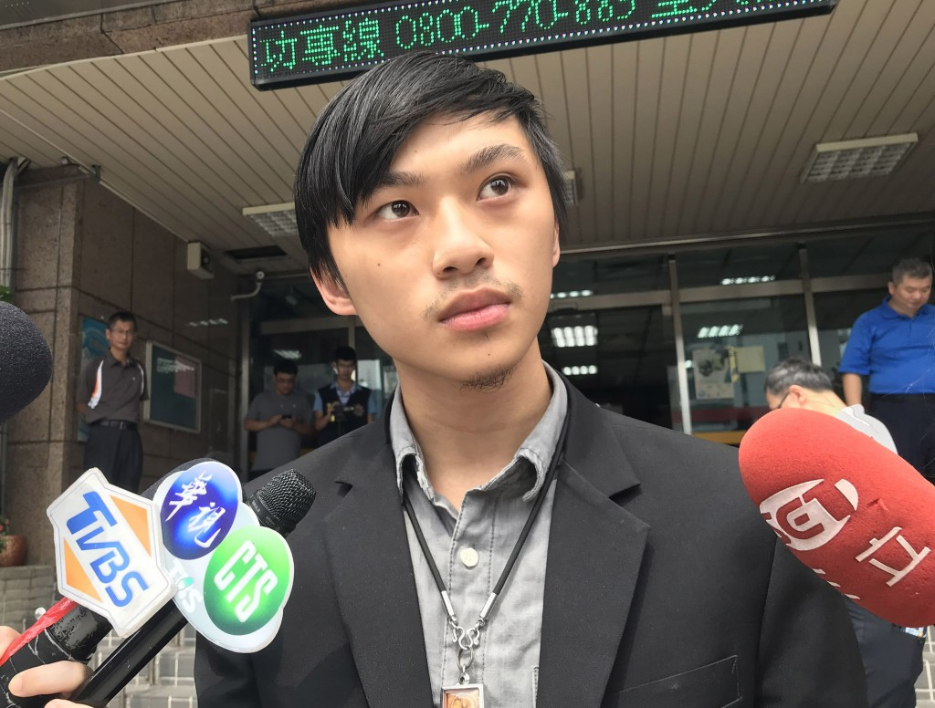 The student who sent ghost money to the Hong Kong office explained his case to police Saturday August 10.