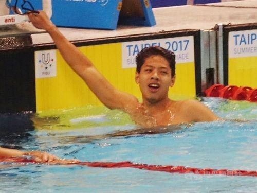Taiwan's Wang wins gold in HK swim meet, qualifies for Olympics