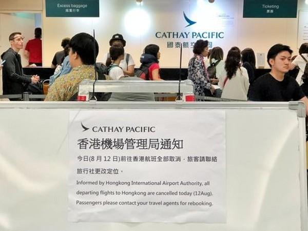 Travel agencies to rebook flights following HK airport chaos