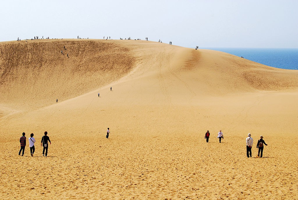 Japan's largest sand dunes, in Tottori (picture by Hashi photo).