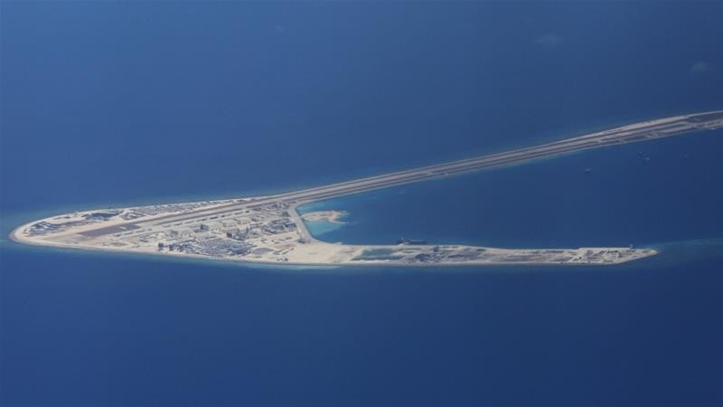 A Chinese-controlled reef in the South China Sea.
