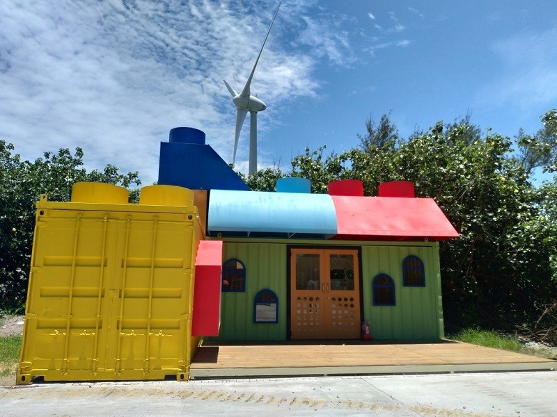 The container camping unit. (Taichung Tourism and Travel Bureau photo)