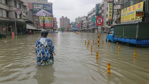Flooding in Tainan.