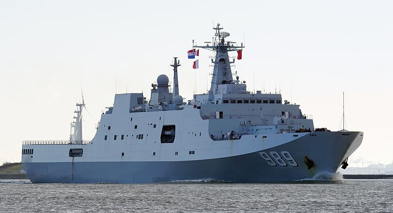 The Type-071 Changbaishan during a visit to the Netherlands (photo by Kees Torn).