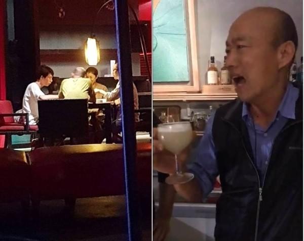 Han playing mahjong (left), drinking (right). (Facebook photos)