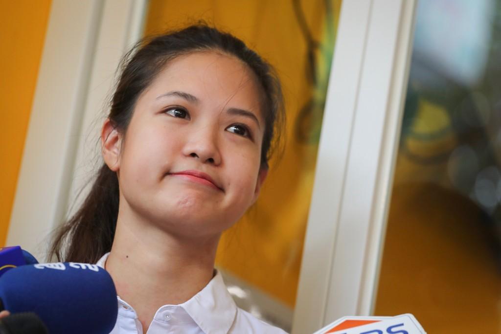時代力量決策委員、台北市議員林亮君(圖)16日在台北舉行記者會,宣布將投入時力下一任黨主席選舉。
