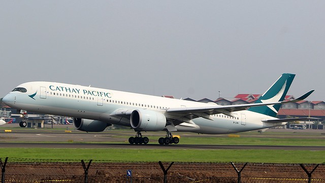 Cathay Pacific A350 B-LRN(Flickr photo)