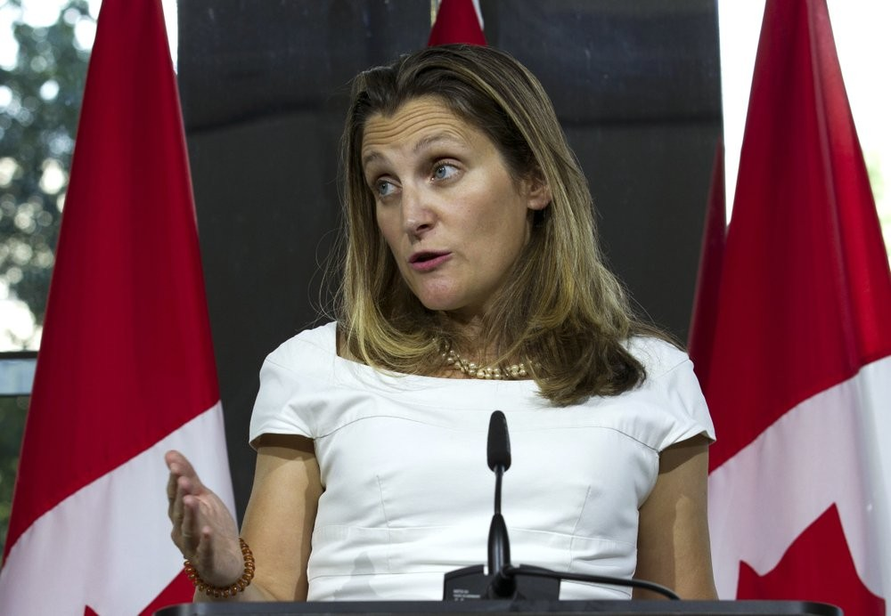 File photo: Canadian Foreign Minister Chrystia Freeland